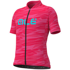 Alé Cycling Rock Jersey Korte Mouwen Kinderen, strawberry/turquoise
